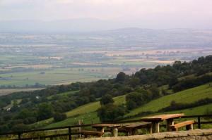 Blick von Oisin Haus in Killeshin