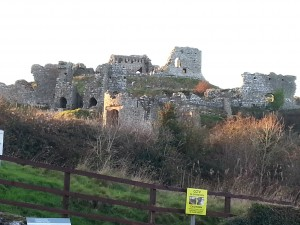 Burganlage des Rock of Dunamase