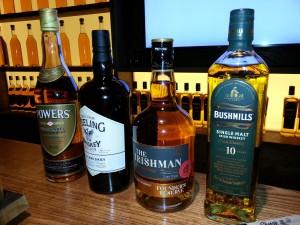 Auswahl an Whiskeysorten